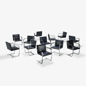 Ludwig Mies van der Rohe, 'Set of twelve Brno chairs, USA'