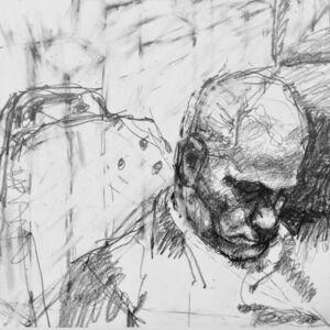 William Boyd Woods, 'Commuter Sleeping on a Train', 2018