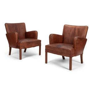 Kaare Klint, 'Pair of easy chairs', 1930's