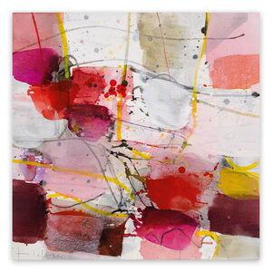 Greet Helsen, 'La vie en rose (Abstract Expressionism painting)', 2017