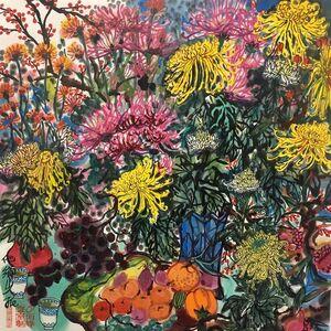 Qiu Jie, 'Fleur d'automne', 2019