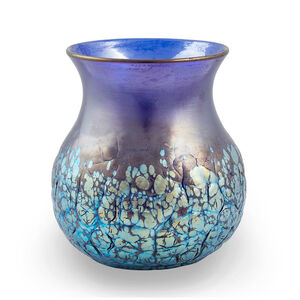 Loetz, 'Cobalt Phenomen Gre 377 crackled signed vase Loetz ca. 1900', ca. 1900