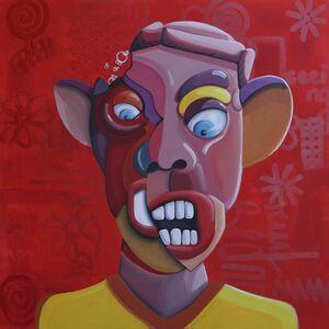 Ghazi Baker, 'Red (Angry)', 2016