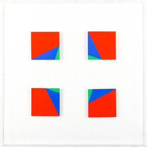 Edoardo Landi, 'Due quadrati virtuali', 1999