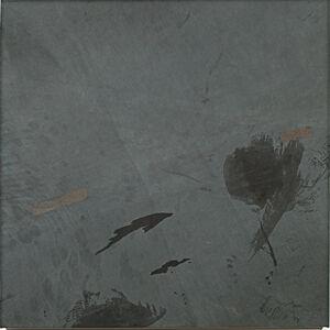 Anneliese Schrenk, 'Ausstoßhaut (graublaue Malerei)', 2016