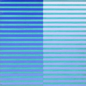 Dadamaino, 'Ricerca del colore. Blu su celeste', 1966-1968