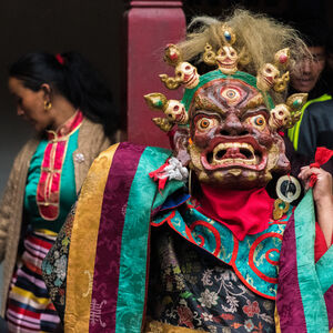 William Frej, 'Mani Rimdu Ceremony, Chiwong Monastery, Nepal', 2017