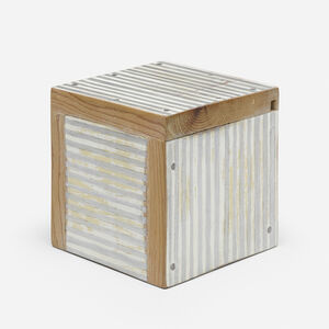 Stuart Arends, 'Box with Silver Stripes', 1987
