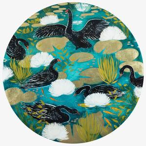 Joseph Bradley, 'Black Swans 3', 2020