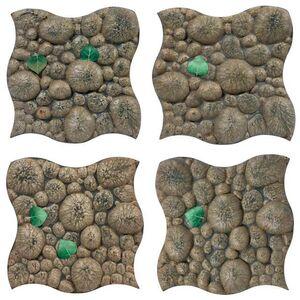 Gufram, 'Four Piero Gilardi for Gufram Pave Piuma Polyurethane Tile Panels'