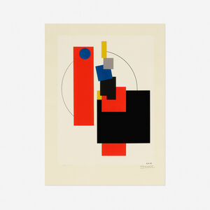 Lajos Kassák, 'Untitled (from the Bildarchitectur portfolio)', 1922