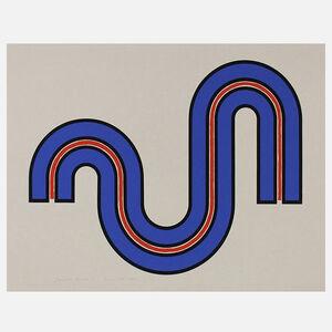 Harold Krisel, 'Blue Curves', 1971