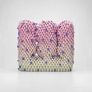 Linda Lopez, 'Soft Watermelon Dust Furry with Blue Rocks', 2020