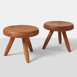Charlotte Perriand, 'Pair of Low Stools by Charlotte Perriand '