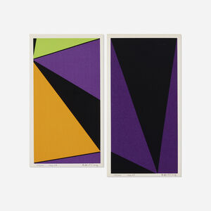 Olle Baertling, 'Untitled (two works from The Angles of Baertling - Open Form, Infinite Space portfolio)', 1962-68