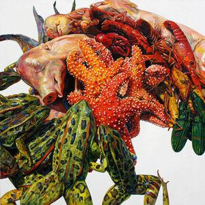 Augustina Droze, 'Arrangement with Pigs', 2014
