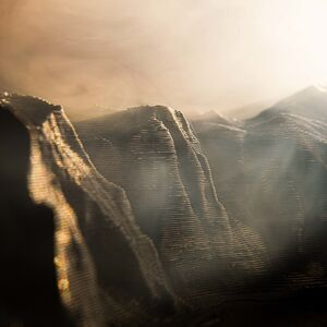 Edward Bateman, 'Mount Watkins Sunset No. 1 (with 3D printed landscape)', 2020