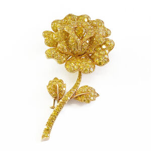Van Cleef and Arpels, 'A Van Cleef & Arpels Yellow Diamond Flower Brooch'