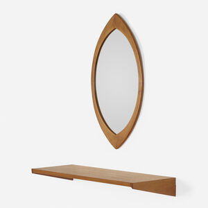 Hans-Agne Jakobsson AB, 'Mirror and shelf', c. 1955