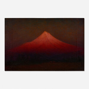 James Everett Stuart , 'Sunset Glow - Mount Hood from Near Oregon City, Oregon'