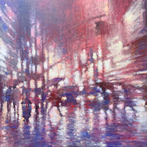 David Hinchliffe, 'Afternoon Shower Streetscape', 2019