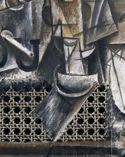 #3: Pablo Picasso, Still Life with Chair-Caning (1912)