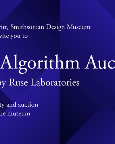 The Algorithm Auction Press Release