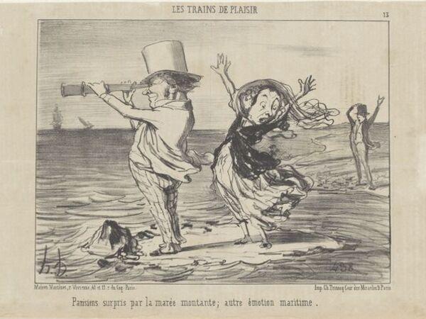 Cover image for Les Parisiens. Caricatures by Honoré Daumier