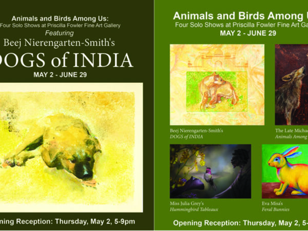 Cover image for Animals and Birds Among Us: Four Solo Shows at Priscilla Fowler Fine Art Gallery