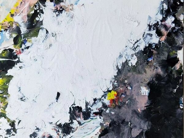 Cover image for Influence of Externalities:  Feng Xiang-Cheng Abstract Painting Invitation Exhibition