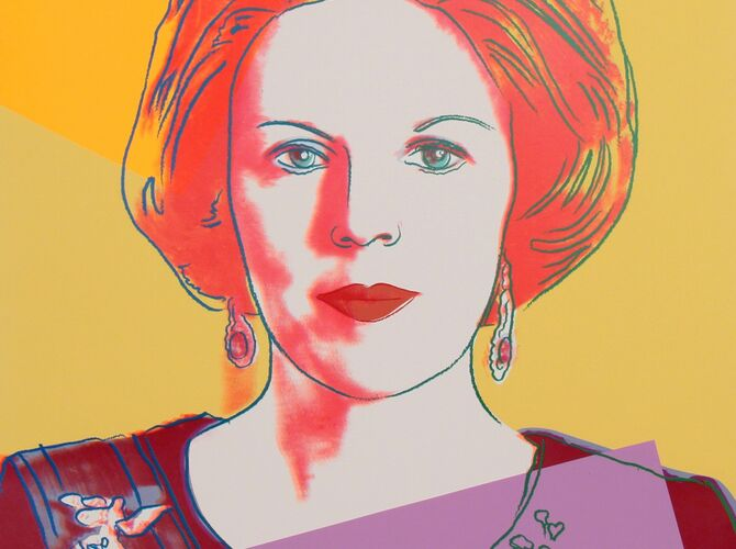 Queen Beatrix Of The Netherlands by Andy Warhol