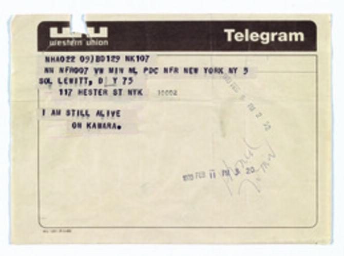 Telegrams by On Kawara