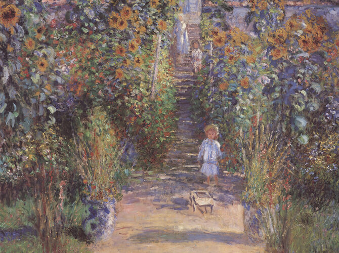 Gardens by Claude Monet