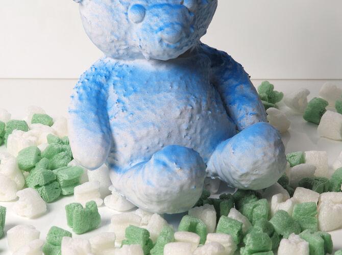 Cracked Bear by Daniel Arsham