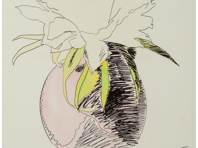 Hand Colored Flowers by Andy Warhol