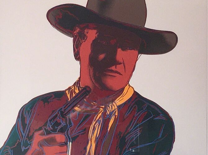 John Wayne by Andy Warhol