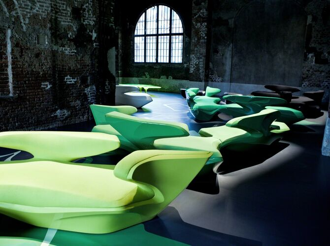 Sofas by Zaha Hadid