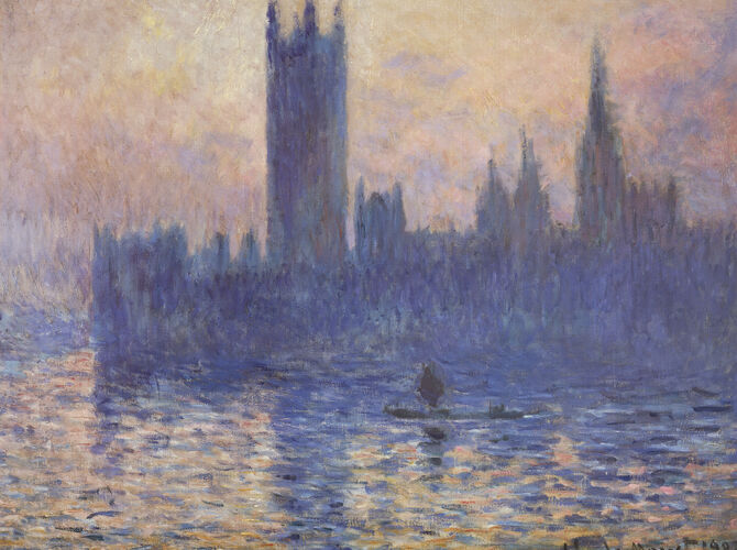 Sunsets by Claude Monet