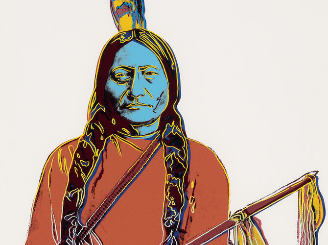 Cowboys and Indians by Andy Warhol