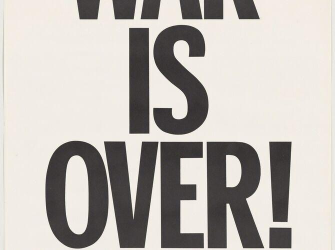 War is Over by Yoko Ono