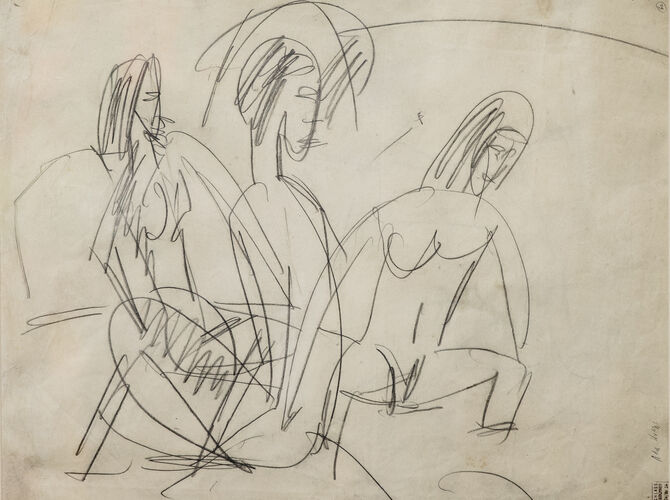 Bathers by Ernst Ludwig Kirchner