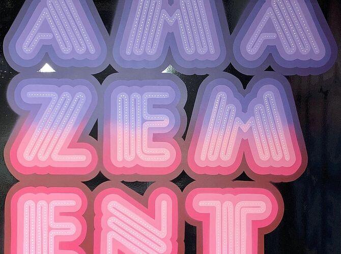 Amazement by Ben Eine
