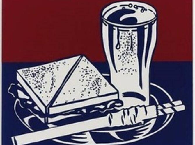 Sandwich and Soda by Roy Lichtenstein