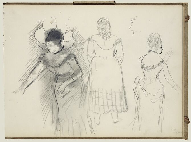 Sketches of a Caf' Singer by Edgar Degas