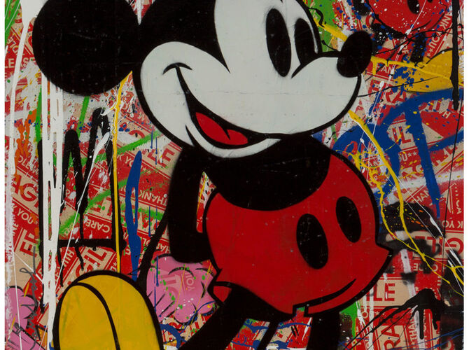 Minnie and Mickey Mouse by Mr. Brainwash