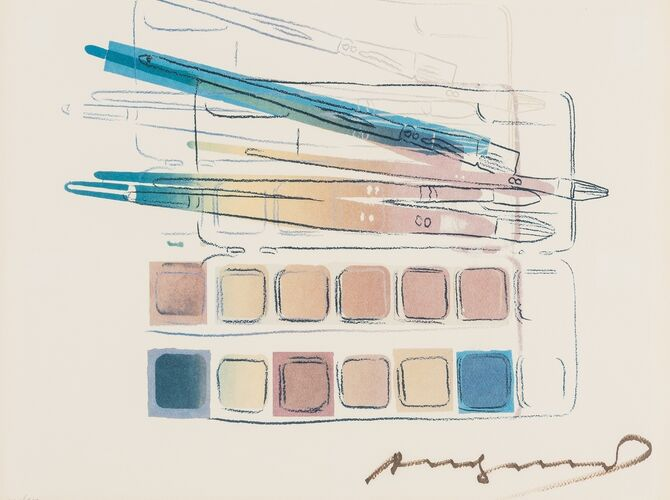 Watercolor Paint Kit with Brushes by Andy Warhol