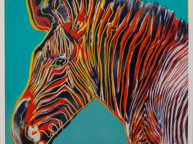 Grévy's Zebras by Andy Warhol