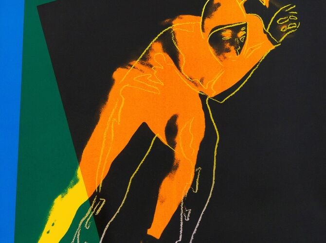 Speed Skater by Andy Warhol