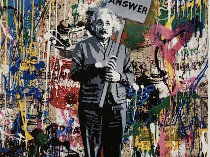 Albert Einstein by Mr. Brainwash