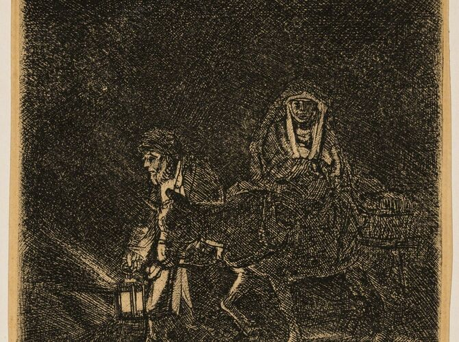 The Flight into Egypt by Rembrandt van Rijn
